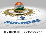 global business and economic 3d ...   Shutterstock . vector #1950971947