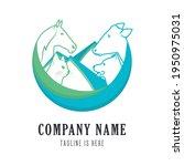 logo veterinary. vector... | Shutterstock .eps vector #1950975031