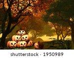 haloween pumpkins | Shutterstock . vector #1950989