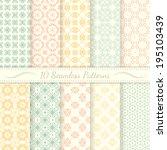 set of ten seamless retro... | Shutterstock .eps vector #195103439