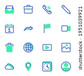 user interface vector icons set ...