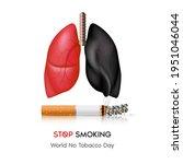 dangers of smoking. smoking...   Shutterstock .eps vector #1951046044