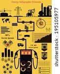 vector set of infographic...   Shutterstock .eps vector #195105977