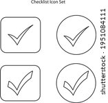 checklist icon set isolated on...