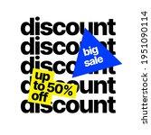 sale banner template. price...   Shutterstock .eps vector #1951090114