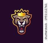 king panther vector mascot logo ...   Shutterstock .eps vector #1951112761