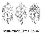 dreamcatcher hippie decoration... | Shutterstock .eps vector #1951116607