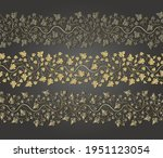 arabesque golden seamless... | Shutterstock .eps vector #1951123054