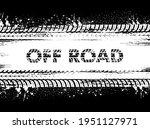 tire tracks  off road car...   Shutterstock .eps vector #1951127971