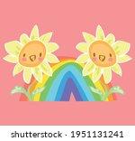 Sunflowers And Rainbow Hand...