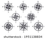 wind rose. vintage compass with ... | Shutterstock .eps vector #1951138834