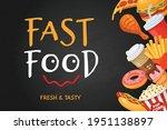 fast food banner. cartoon hot...   Shutterstock .eps vector #1951138897