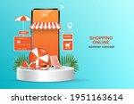 shopping online template via... | Shutterstock .eps vector #1951163614