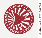panay stamp. travel red rubber... | Shutterstock .eps vector #1951167244