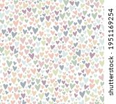 lovely hand drawn doodle hearts ... | Shutterstock .eps vector #1951169254