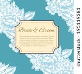 wedding invitation cards with...   Shutterstock . vector #195119381