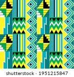 african tribal kente cloth... | Shutterstock .eps vector #1951215847