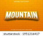 mountain text effect template...   Shutterstock .eps vector #1951216417