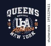 queens college typography for t ...   Shutterstock .eps vector #1951229611