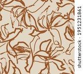 brown floral brush strokes... | Shutterstock .eps vector #1951231861