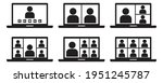 video conference icon set ...   Shutterstock .eps vector #1951245787
