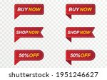 set of red ribbons  price tags  ... | Shutterstock .eps vector #1951246627