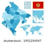 montenegro detailed... | Shutterstock .eps vector #1951254547