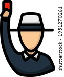 Cricket Umpire With Hand...