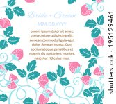 wedding invitation cards with...   Shutterstock . vector #195129461