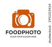 food photo vector logo template....   Shutterstock .eps vector #1951315414