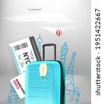 summer travel    covid. concept ...   Shutterstock .eps vector #1951422667