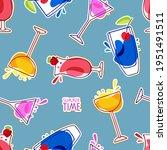 tasty alcoholic cocktails... | Shutterstock .eps vector #1951491511