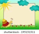 frame with colorful smiling... | Shutterstock . vector #195151511
