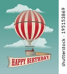 happy birthday   greeting card  ... | Shutterstock .eps vector #195153869