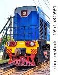 Diesel Locomotive On The Railway