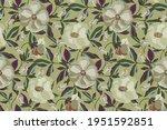floral vector seamless pattern. ...   Shutterstock .eps vector #1951592851