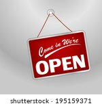 we are open sign | Shutterstock .eps vector #195159371