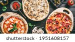 variety of pizzas with sausage  ... | Shutterstock . vector #1951608157