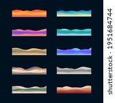 desert landscape  hills and... | Shutterstock .eps vector #1951684744