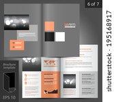 classic vector brochure... | Shutterstock .eps vector #195168917