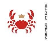 crab king seafood logo vector...   Shutterstock .eps vector #1951696981