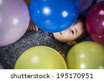 celebration boy playing with... | Shutterstock . vector #195170951