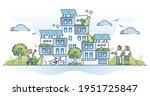 autonomous building as house... | Shutterstock .eps vector #1951725847