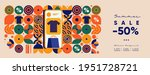 online shopping and sale. flat... | Shutterstock .eps vector #1951728721