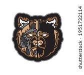 colored face of a bear. samoan... | Shutterstock .eps vector #1951732114