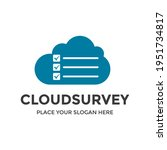 cloud survey vector logo... | Shutterstock .eps vector #1951734817