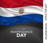 paraguay happy independence day ...   Shutterstock .eps vector #1951739167