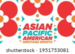 asian pacific american heritage ... | Shutterstock .eps vector #1951753081