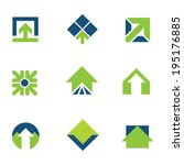 Going green for natural business success arrow up icon logo set