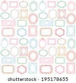 colorful seamless doodle frame... | Shutterstock .eps vector #195178655